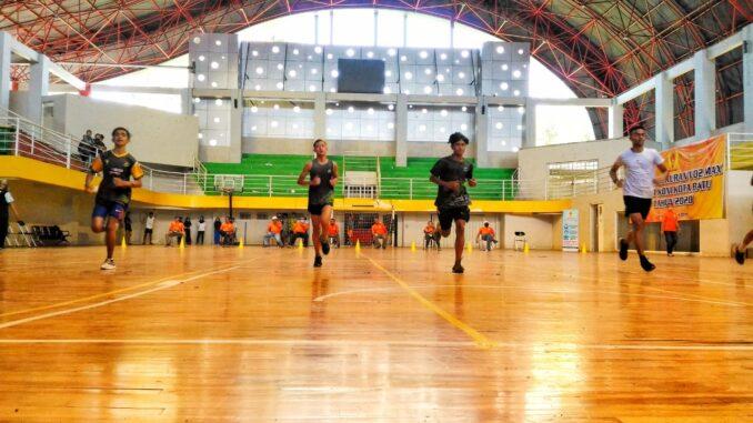 Para Atlet saat mengikuti VO2 Max yang dilaksanakan di GOR Gajahmada
